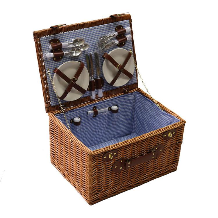 Classic wicker hamper storage basket
