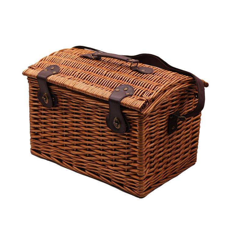 Carehome single shoulder picnic bag wicker storage hamper