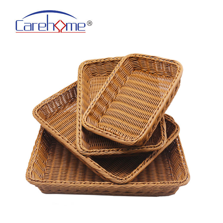 Waterproof rattan basket tray