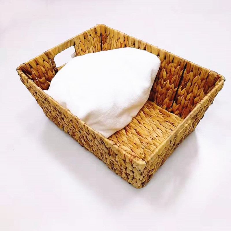 Carehome mothproof seagrass basket with handles on sale for supermarket-2