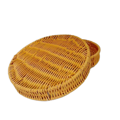 100% waterproof pp rattan divide basket tray for food storage