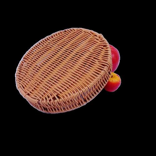 FDA test washable pp rattan five divides basket
