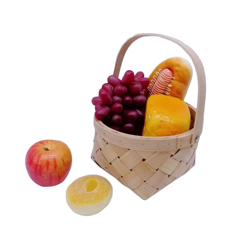 Hot Selling new creative design wood chip basket with handle