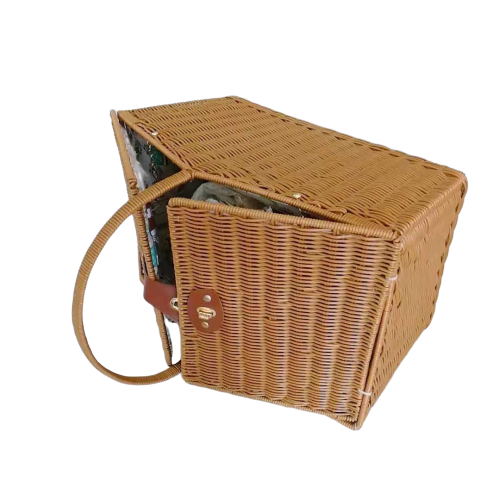 Graceful washable PP rattan picnic basket