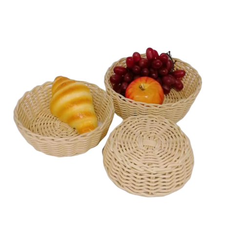 Good quality non-toxic health pp wicker round basket