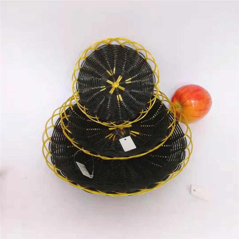 Mixed color hollow pp snacks basket