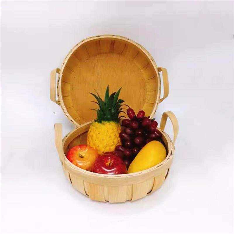 Carehome natural wood chip basket for banana