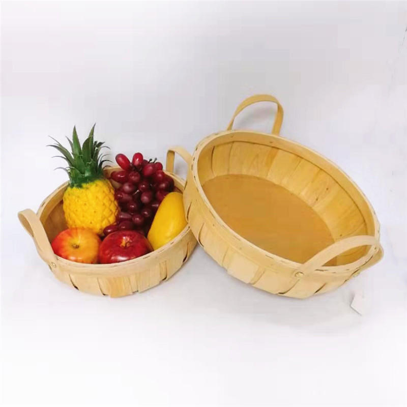 Carehome natural wood chip basket for banana