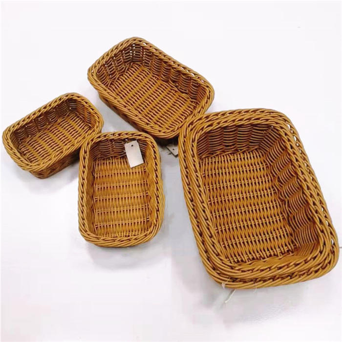 Multisize waterproof pp rattan basket pp wicker tray