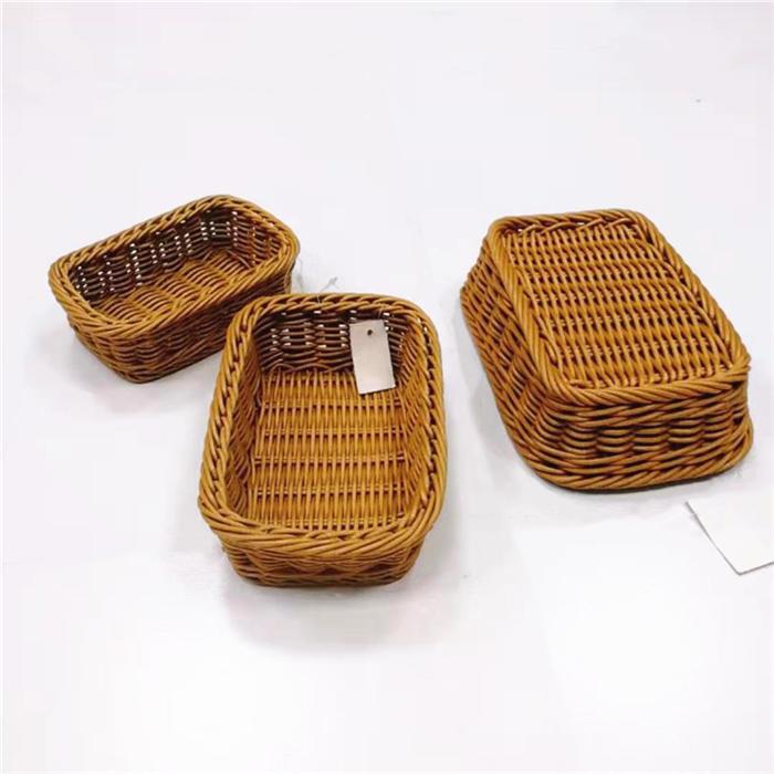 Multisize waterproof pp rattan basket pp wicker tray