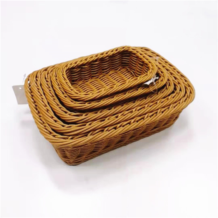 Carehome poly bakery display baskets manufacturer for family-Wicker Basket, Rattan Basket, Poly Ratt