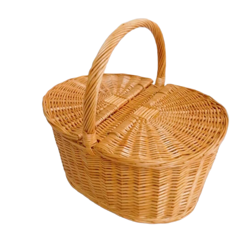 Party hamper wicker food storage basket