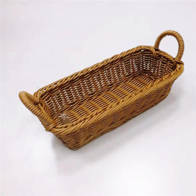 PP wicker cutlery basket with handles
