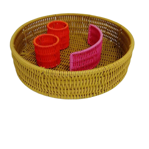 Colorful cookies shape pp wicker basket Halloween gift Christmas gift basket