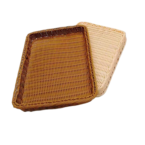 PP wicker tray and pp rattan bakery basket
