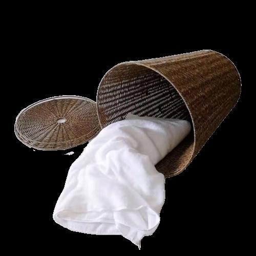 Imitation durable wicker storage basket