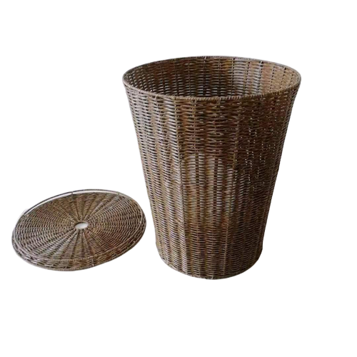 Imitation durable wicker storage basket