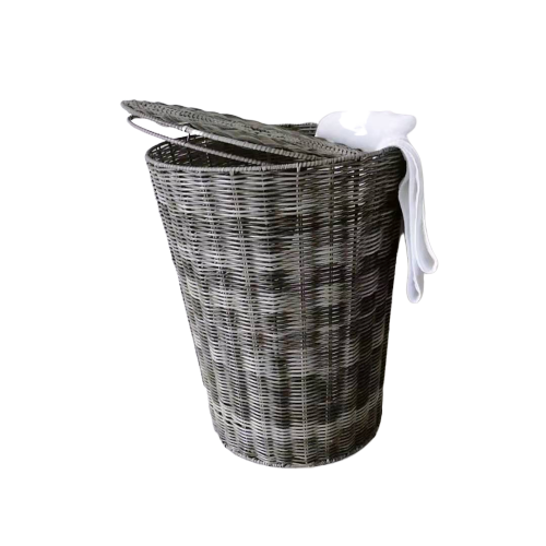 Mixed color bathroom laundry basket with lid
