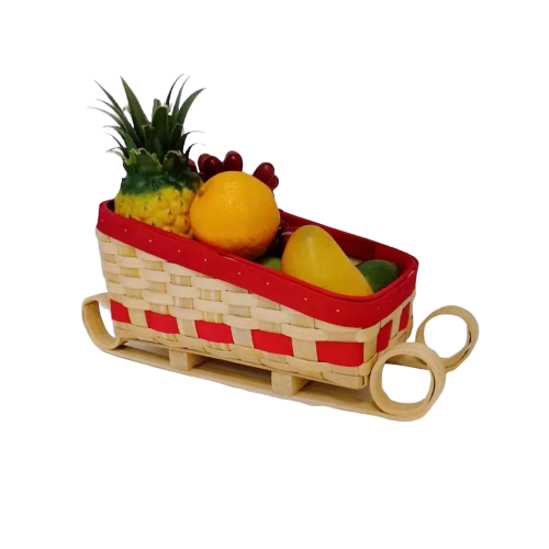 Newest Christmas gift wooden basket for food storage