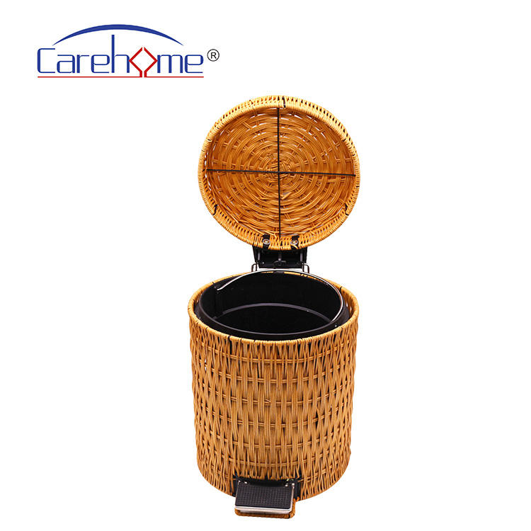 Eco-friendly hand-woven nature rattan waste trash