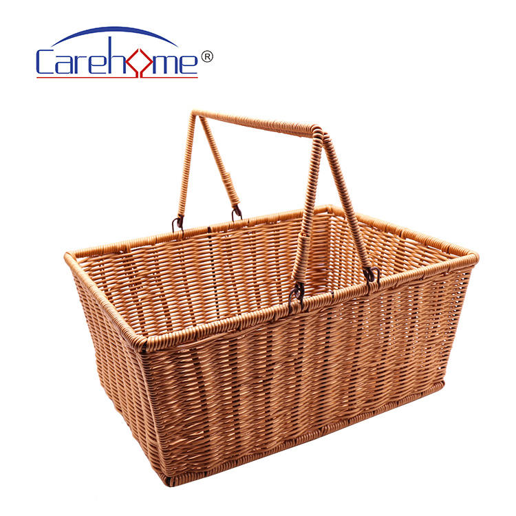 Factory wholesale FDA passed  poly rattan fruit  hamber basket