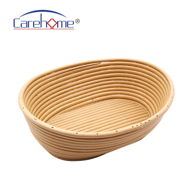 Oval Banneton Bread Proofing Basket, Fermentation Brotform Sourdough Dough Proofing Rising Rattan Baskets for Kitchen Baking