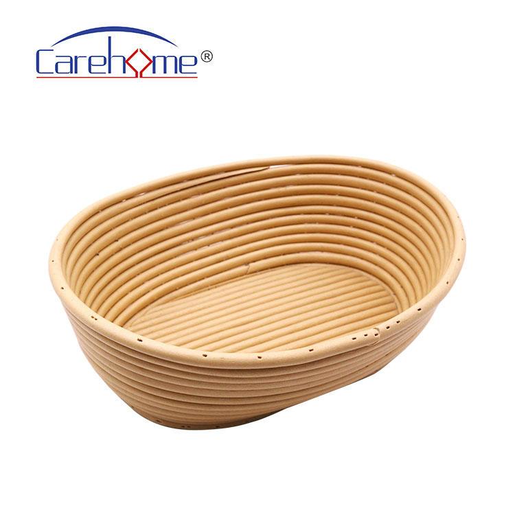Oval Banneton Bread Proofing Basket, Fermentation Brotform Sourdough Dough Proofing Rising Rattan Baskets for Kitchen Baking