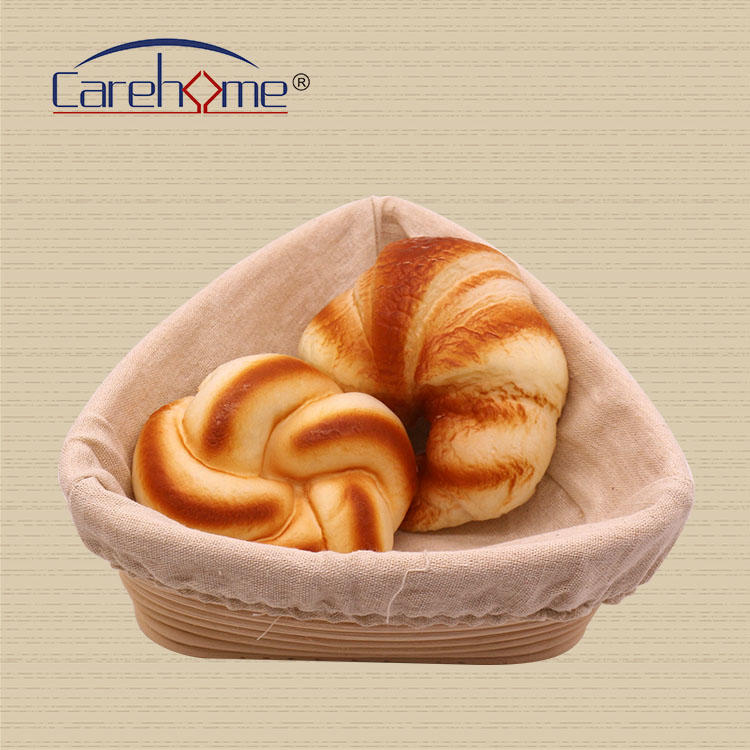 Triangle Shape Banneton Bread Dough Proofing Basket With Liner