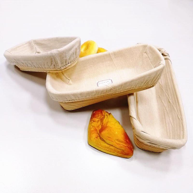 Oval shape Bread Banneton Proofing Basket&Liner Brotform Dough Rising Rattan Handmade rattanbowl