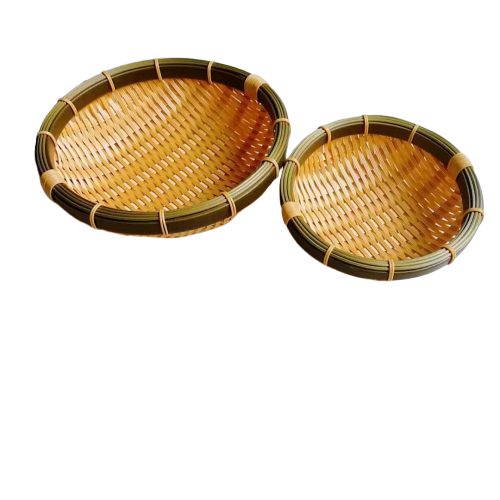 DW-003  Factory wholesale washable polypropylene bamboo basket, round plastic bamboo basket, artistically handmade  basket