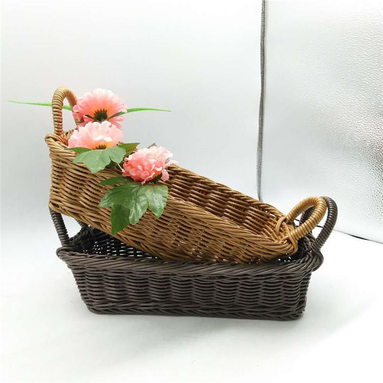 Restaurant eco-friendly cutlery fork/ knife chopstick  poly rattan basket /holder