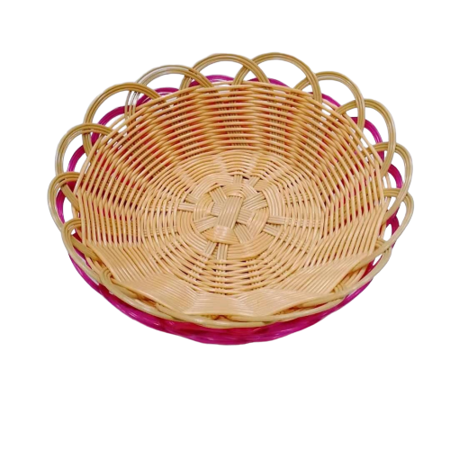 Carehome lovely plastic bread basket with high quality for supermarket-Wicker Basket, Rattan Basket,
