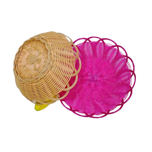 Cheap price high quality colorful pp rattan basket