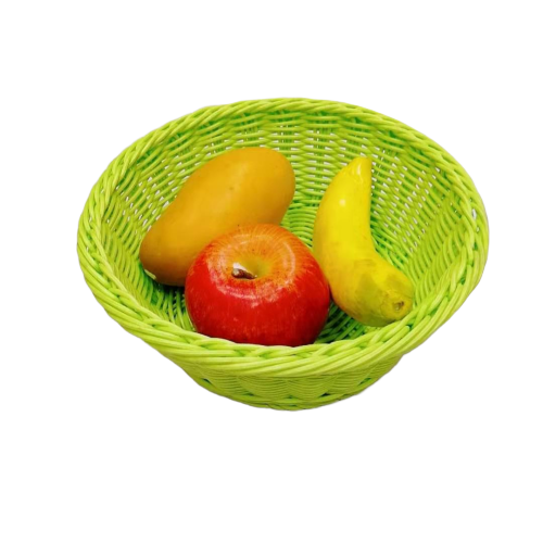 Light green washable and health pp rattan basket