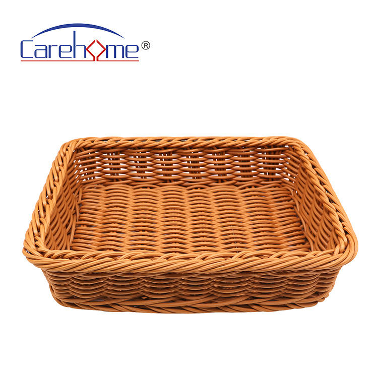 hot sale durable washable  pp/poly rattan supermarket fruit and vegetable  basket