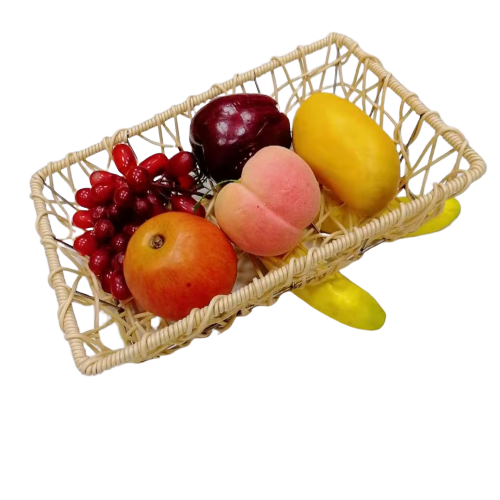 Messy weaving pp wicker basket for fruit
