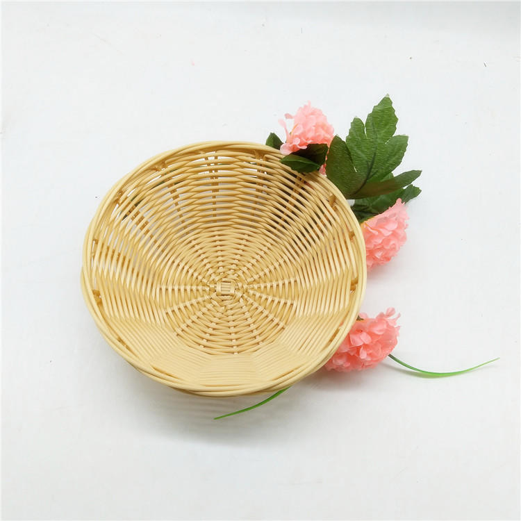 Cheap  price hollow  pp rattan  bread/snack  basket
