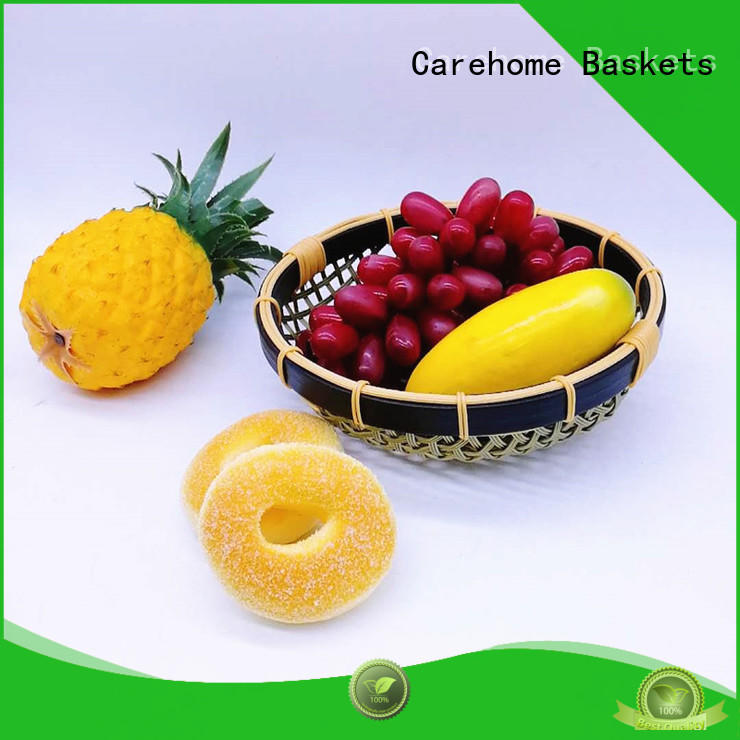 Carehome bottom Bamboo Basket ecofriendly for supermarket