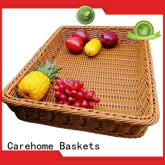 Carehome high quality shopping wicker basket tray for shop