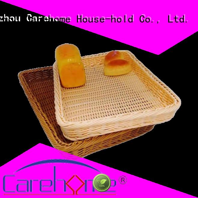 handmade rattan bread basket rectangle wholesale for market