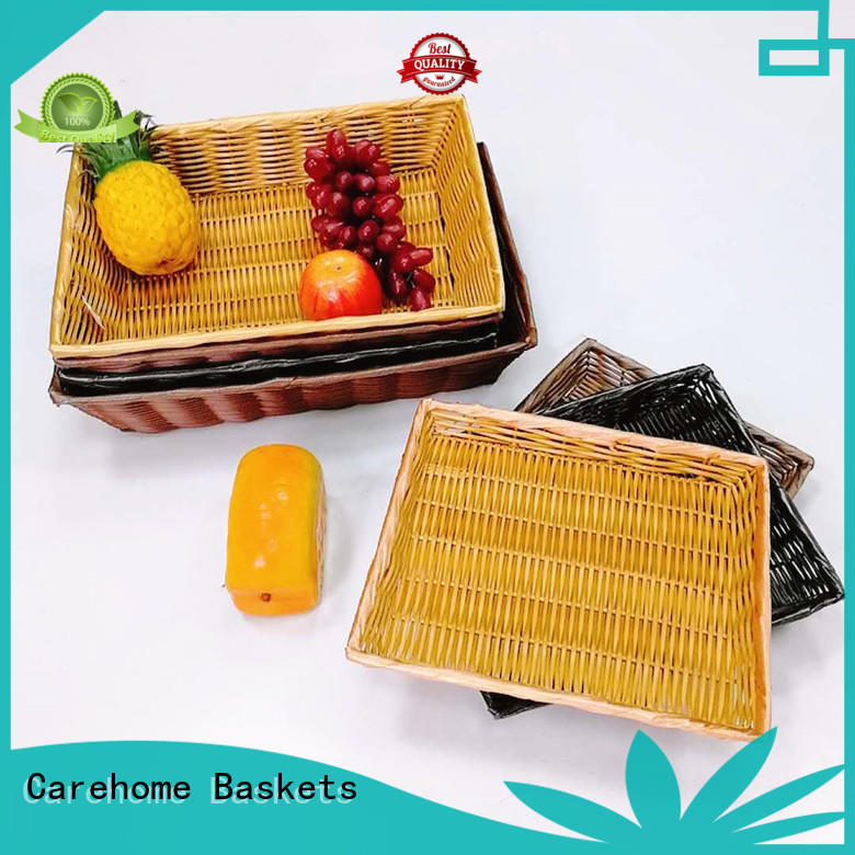 Carehome handicraft bamboo bread basket supplier for supermarket