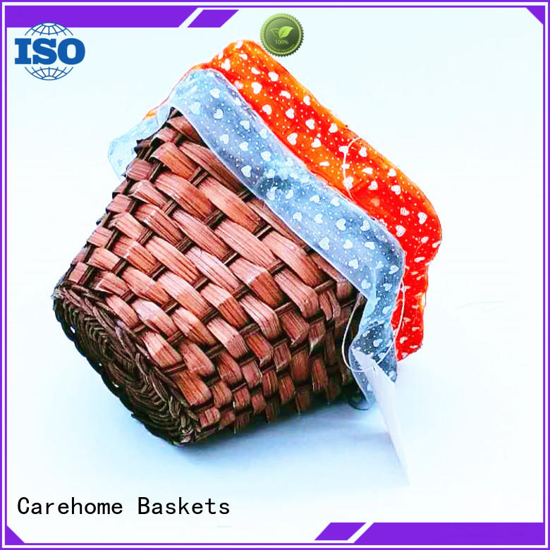 Carehome non-toxic wicker gift baskets manufacturer for shop