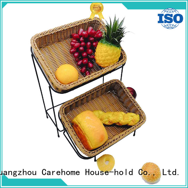 Carehome plastic wooden bread basket with high quality for shop