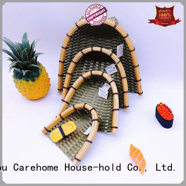Carehome hollow Bamboo Basket with high quality for supermarket