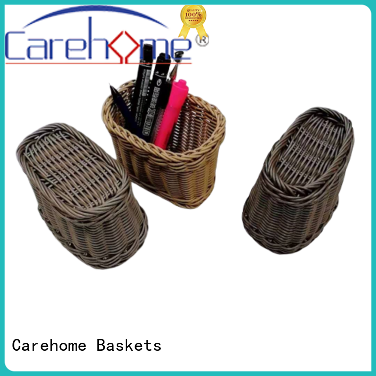 Carehome bamboo craft gift basket with high quality for supermarket