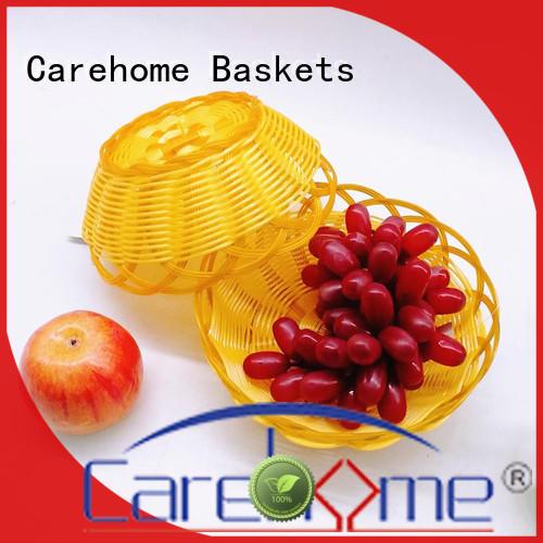 foldable wicker baskets kitchen handcraft supplier for supermarket