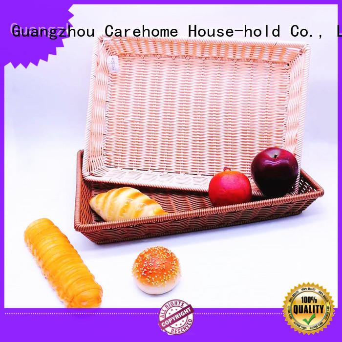 rectangle bamboo tray basket with lid for shop Carehome
