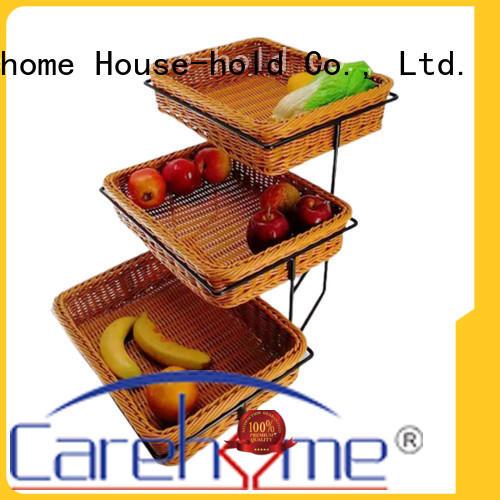 wooden bread basket trilateral wholesale for market