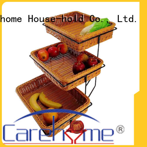 wooden bread basket trilateral wholesale for market