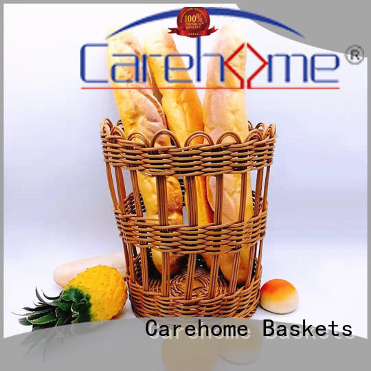 handmade wicker storage baskets for shelves food with high quality for family